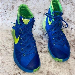 Nike Hyperdunk 2015 Blue Green 7.5 Hi Sneakers